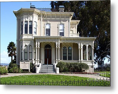 Old Victorian Camron-stanford House . Oakland California . 7d13440 Metal Print by Wingsdomain Art and Photography