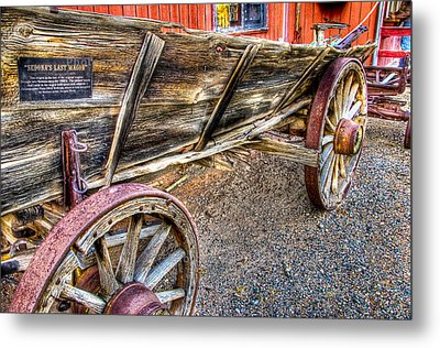 Old Wagon Metal Print by Jon Berghoff