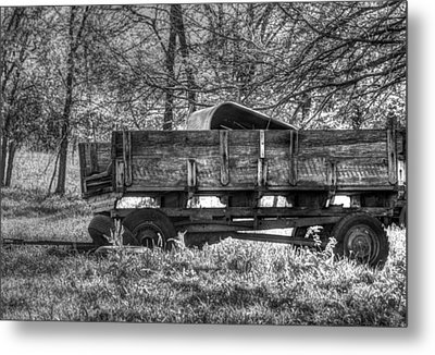 Old Wagon Metal Print by Lisa Moore