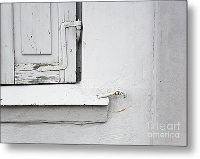 Metal Print featuring the photograph Old Window Shutters Detail by Agnieszka Kubica