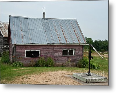 Metal Print featuring the photograph Old Wood Shed  by Barbara McMahon