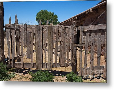 Old Wooden Fence Gate Metal Print by Thom Gourley/Flatbread Images, LLC