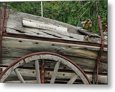 Metal Print featuring the photograph Old Wooden Wagon by Trever Miller