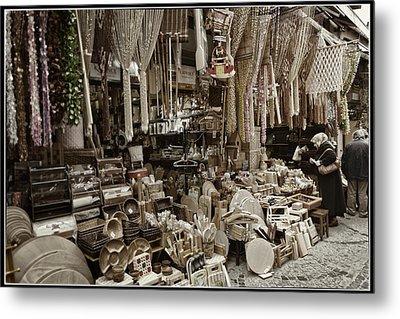 Old World Market Metal Print by Joan Carroll