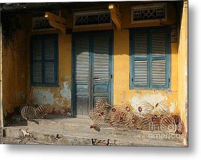 Old Yellow House In Vietnam Metal Print by Tanya Polevaya