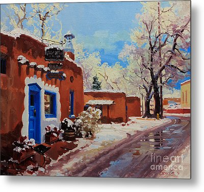 Oldest Adobe House  Metal Print