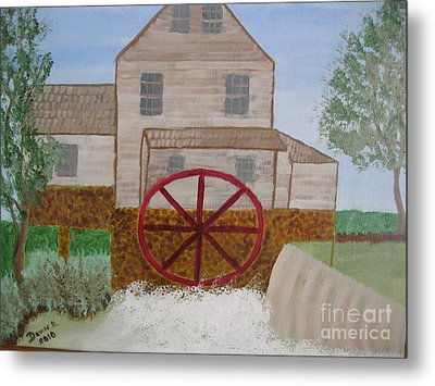 Ole' Grist Mill Metal Print by Dawn Harrold