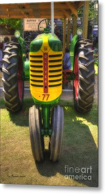 Metal Print featuring the photograph Oliver Crop Row 77 by Trey Foerster