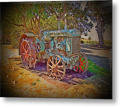 Oliver Tractor 2 Metal Print by Nick Kloepping