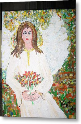Olivia The Angel Metal Print