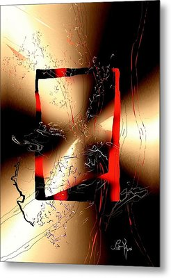 Metal Print featuring the digital art Omen by Leo Symon