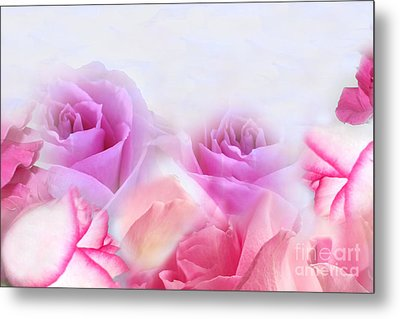 On A Bed Of Roses Metal Print