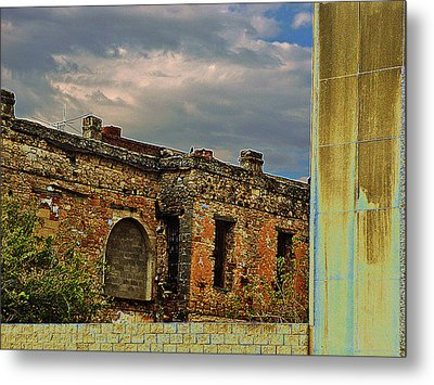 Metal Print featuring the photograph On A Downtown Street In Southwest Texas by Louis Nugent