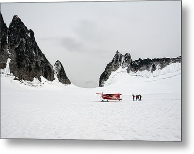 Metal Print featuring the photograph On A Glacier by Gary Rose