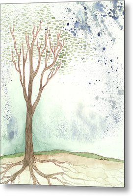 On A Hill Metal Print by Annette Janelle Provenzo