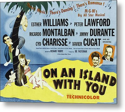 On An Island With You, Peter Lawford Metal Print by Everett