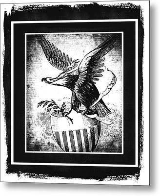 On Eagles Wings Bw Metal Print by Angelina Vick