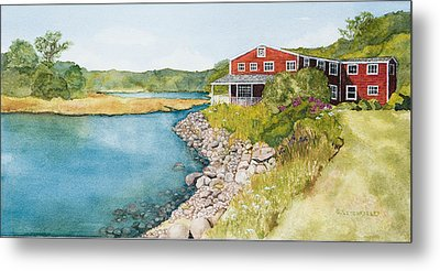On Grist Mill Pond Metal Print by Gregg Litchfield