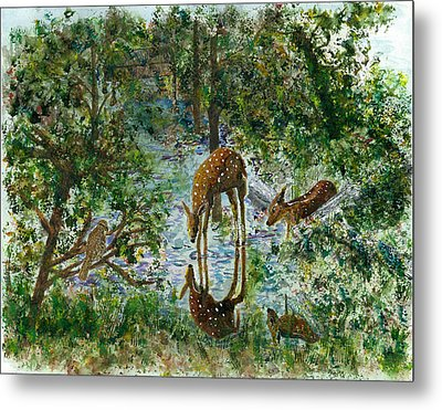 On Looker Metal Print by Joy Braverman