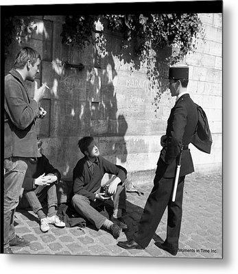 On Patrol Paris 1963 Metal Print by Glenn McCurdy