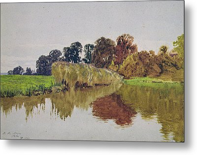 On The Arun Stoke Sussex  Metal Print by George Vicat Cole