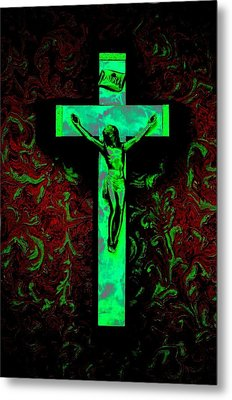Metal Print featuring the photograph On The Cross by David Pantuso