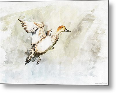 On The Fly Metal Print by Kolor Palette