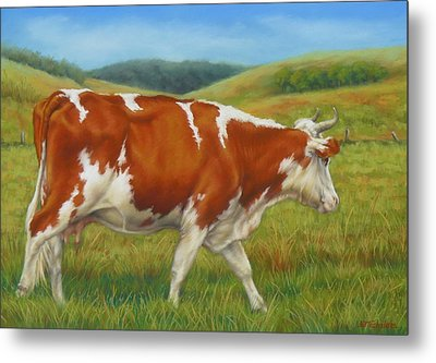 On The Moove Metal Print by Margaret Stockdale
