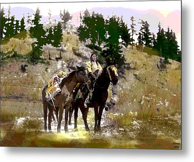 Metal Print featuring the mixed media On The Move by Charles Shoup