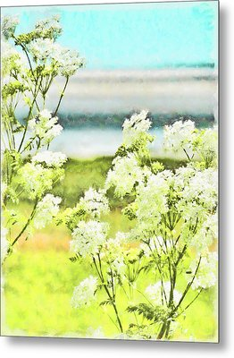 Metal Print featuring the digital art On The Mudflats Of Pegwell Bay by Steve Taylor