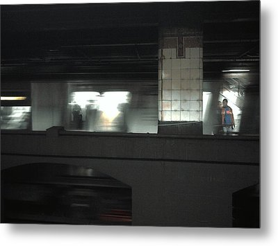 On The Platform Metal Print by Christine Burdine