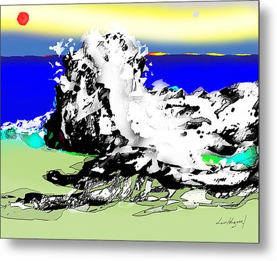 On The Rocks Metal Print