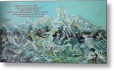 On The Rocks Metal Print by Rita Brown