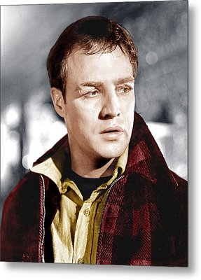 On The Waterfront, Marlon Brando, 1954 Metal Print by Everett