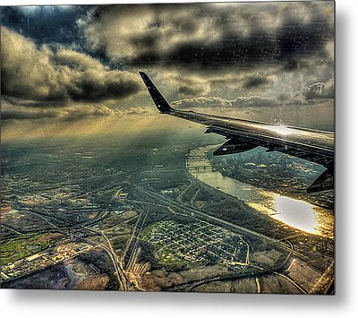 Metal Print featuring the photograph On The Wing by William Fields