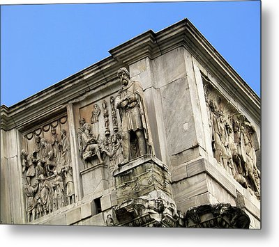 On Top Of The Arch Of Constantine Metal Print