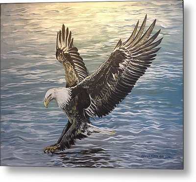 On Wings Of Eagles Metal Print by Cecilia Putter