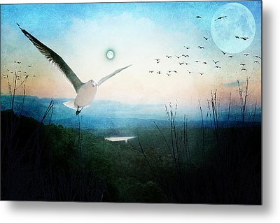 Once There Were Two Moons Metal Print
