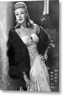 Once Upon A Honeymoon, Ginger Rogers Metal Print by Everett