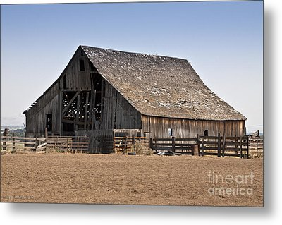 Once Was New Metal Print by Larry Keahey