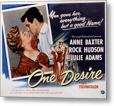 One Desire, Anne Baxter, Rock Hudson Metal Print by Everett