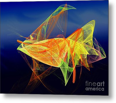 One Fish Rainbow Fish Metal Print by Andee Design