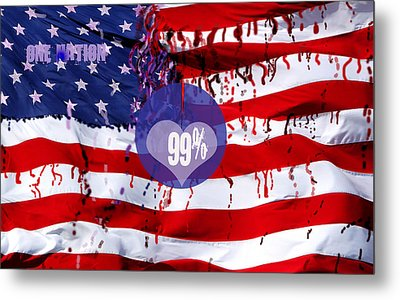 One Nation Metal Print