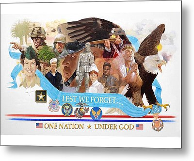 One Nation Under God Metal Print by Chuck Hamrick
