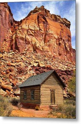One Room Log School House, Fruita Metal Print by Royce Bair