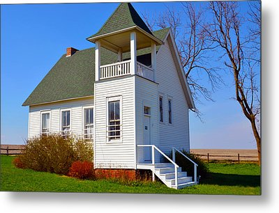 One Room School House No.2 Metal Print by Christine Belt