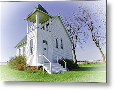 One Room School House No.3 Metal Print by Christine Belt
