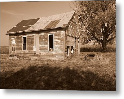 One Room School House Metal Print by Rick Rauzi