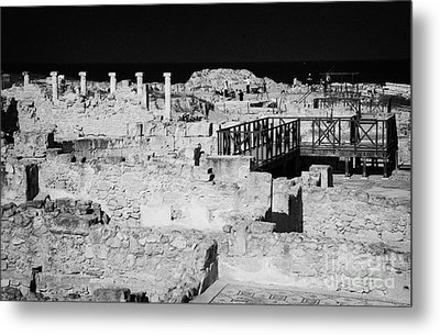 Ongoing Archeological Dig At The House Of Dionysos Roman Villa At Paphos Archeological Park Cyprus Metal Print by Joe Fox