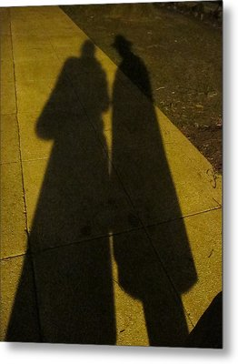 Only The Shadow Knows Metal Print by Valia Bradshaw
